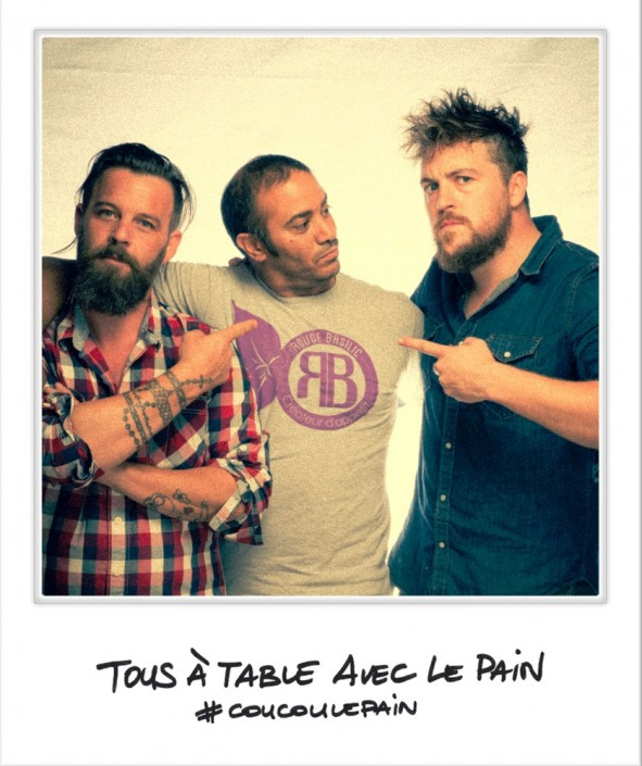 Selfie avec Laurent Favre et Florent Ladeyn, Tous à table avec le pain, United States of Paris, septembre 2014