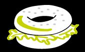 Bagel Rouge Basilic icône menu