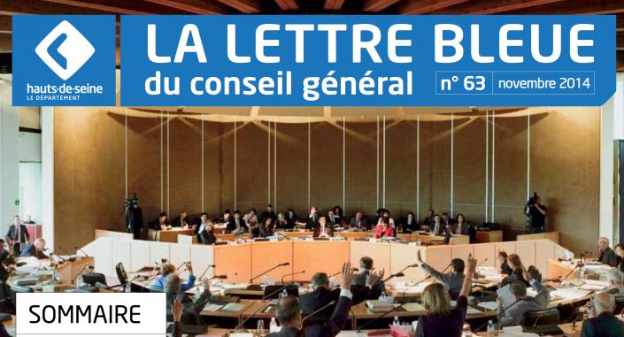 Rouge Basilic le traiteur solidaire, page 9, La Lettre Bleue du Conseil Général des Hauts de Seine, novembre 2014