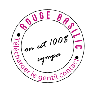 icone de téléchargement contact rouge basilic